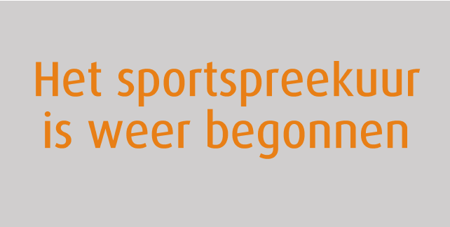 sport spreekuur